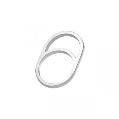 Gerahmter Ring O | Silber
