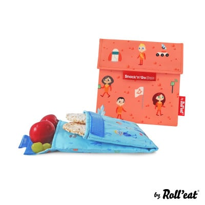 Mehrweg-Snackbeutel Snack'n'Go Duo Kids Space | Orange