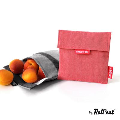 Mehrweg-Snackbeutel Snack'n'Go Eco | Rot