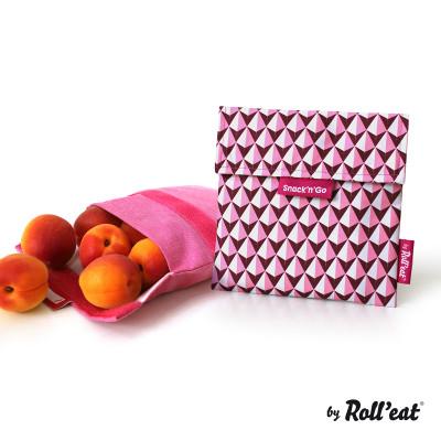 Wiederverwendbare Snack-Beutel Snack'n'Go-Kacheln | Pink