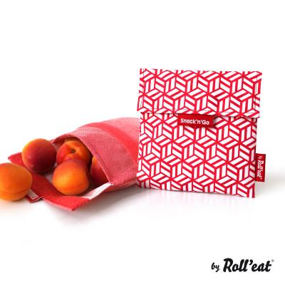Mehrweg-Snackbeutel Snack'n'Go-Kacheln | Rot