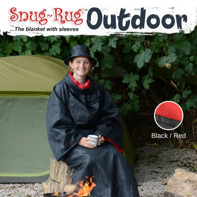 Outdoor Blanket with Hat   Red