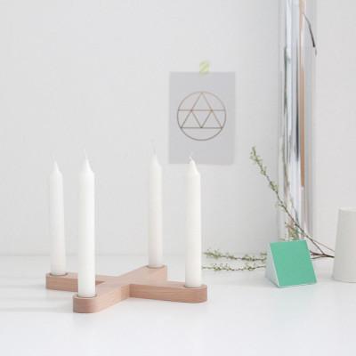 Snug. Cross Candleholder | Natural