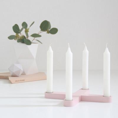 Snug. Cross Candleholder | Rose