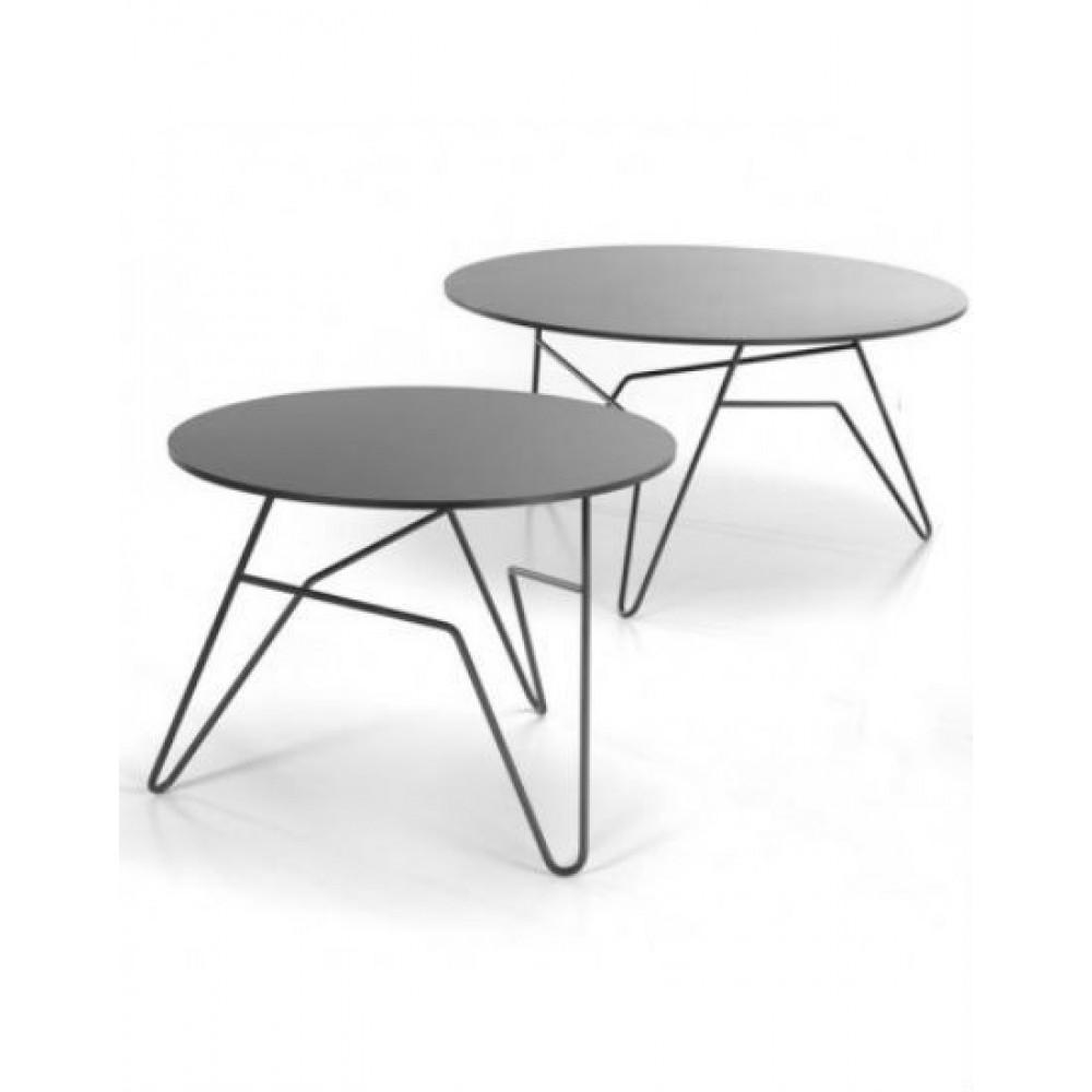 Twist Round Table Black | Large