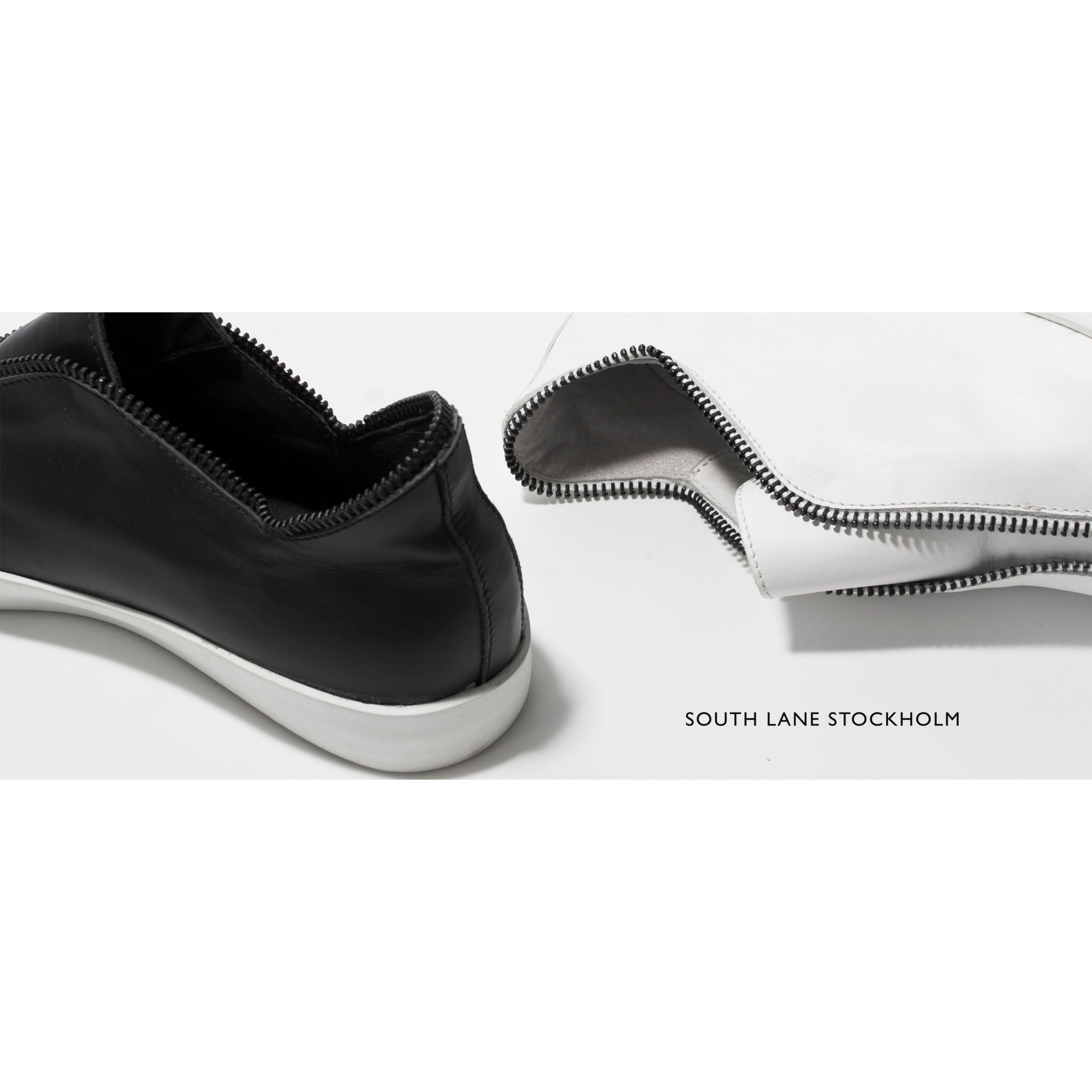 High-top Sneakers | White & Black