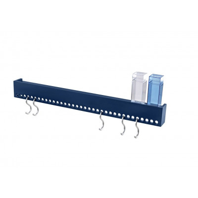 So-Hooked Wall Rack 90 | Rubber Blue