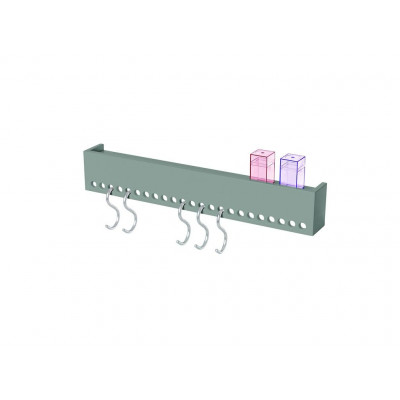 So-Hooked Wall Rack 60 | Rubber Grey