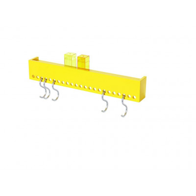 So-Hooked Wall Rack 60 | Rubber Yellow