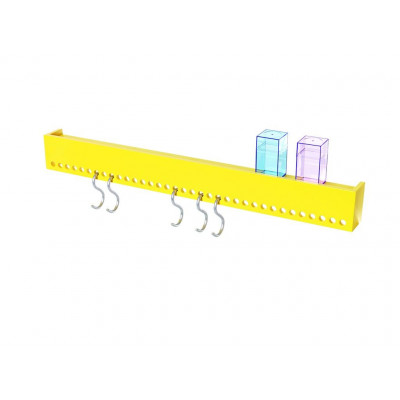 So-Hooked Wall Rack 90 | Rubber Yellow