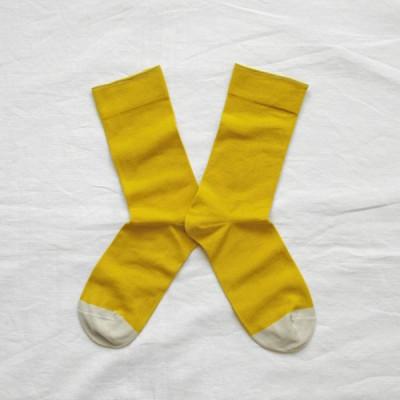 Plain Sulfur Yellow Socks