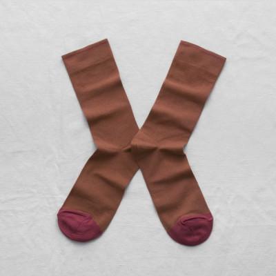 Plain Terracota Brown Socks