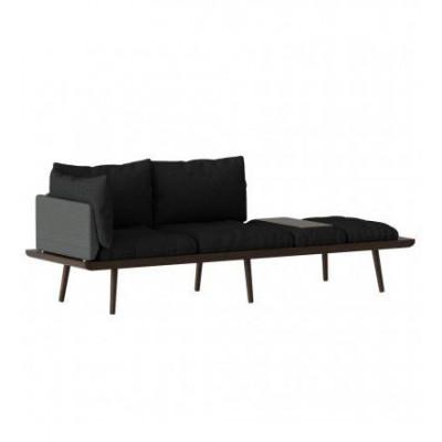 3-Sitzer-Sofa Lounge Rund   Eiche dunkel