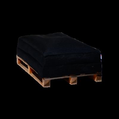Sitzsack-Palettensofa 120 x 80 cm   Schwarz