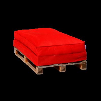Sitzsack-Palettensofa 120 x 80 cm   Rot