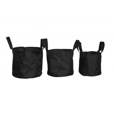 Outdoor Plant Pots Soft Pots Set/3 | Black