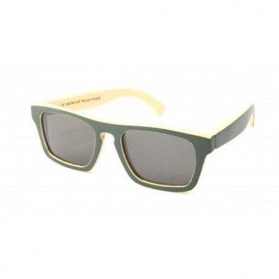Solid Wooden Sunglasses   Bamboo Green