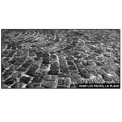 Beach Towel Sous les Pavés, la Plage | Black