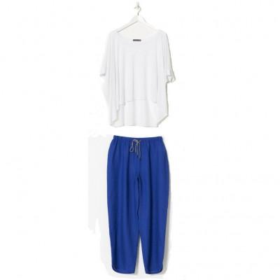 Söve Pyjama Set | Weiß & Blau