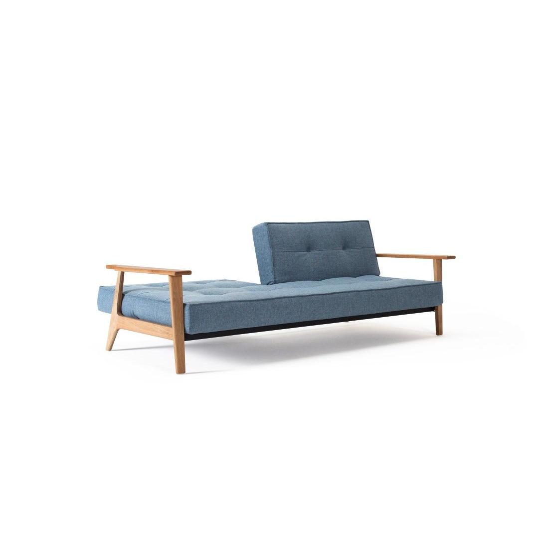 Splitback Sofa Bed   Mixed Blue