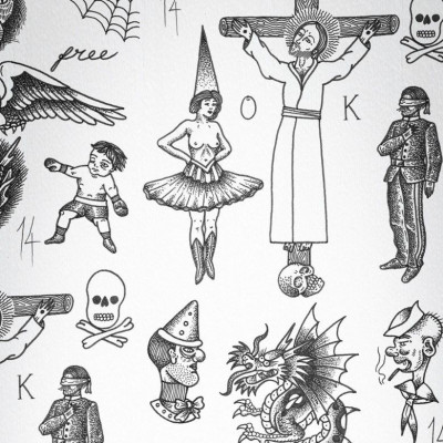 Wallpaper Tattoo Flash 01 | Original