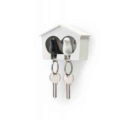 Schlüsselanhänger Sparrow Duo   Weiß & Schwarz