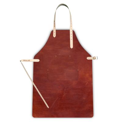 Leather Apron | Cognac + cheast pocket