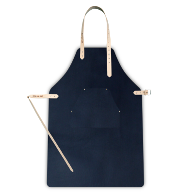 Leather Apron | Navy + cheast pocket