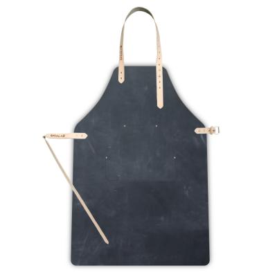 Leather Apron | Coal + cheast pocket