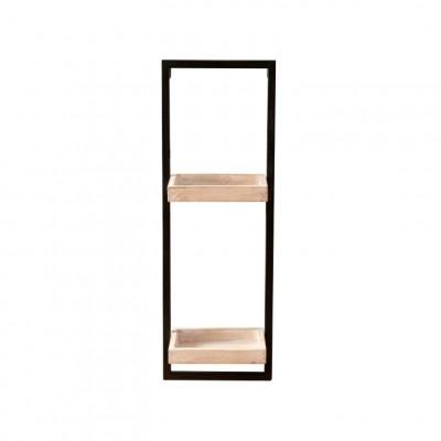 Regal Spencer H 66 cm | Mattes schwarzes und graues Holz
