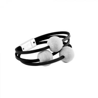 Armband SPHERE | Grau & Schwarz