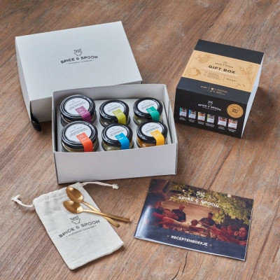 Gift Box   6 Pcs. Flavoured Salt & Sugar