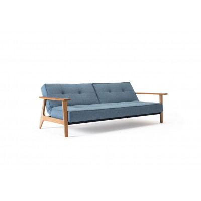 Splitback-Sofabett | Gemischtes Blau