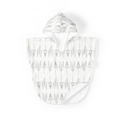 Bath Poncho | Arrows Grey