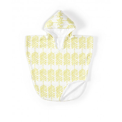Bath Poncho | Feathers Yellow