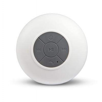 Spot   Waterproof Bluetooth Multimedia Speaker   White
