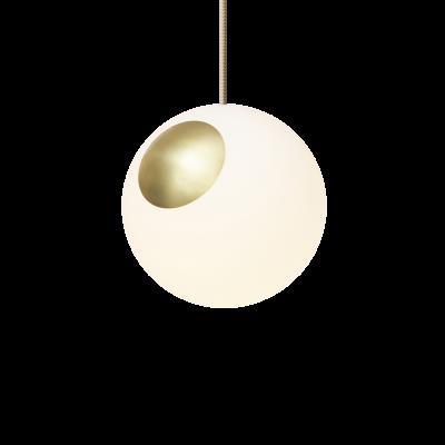 Hängeleuchte Bright Spot | Messing & Cremefarbenes Kabel