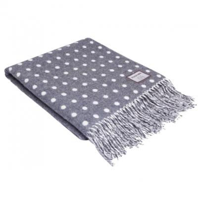 Spot Blanket   Grey & White