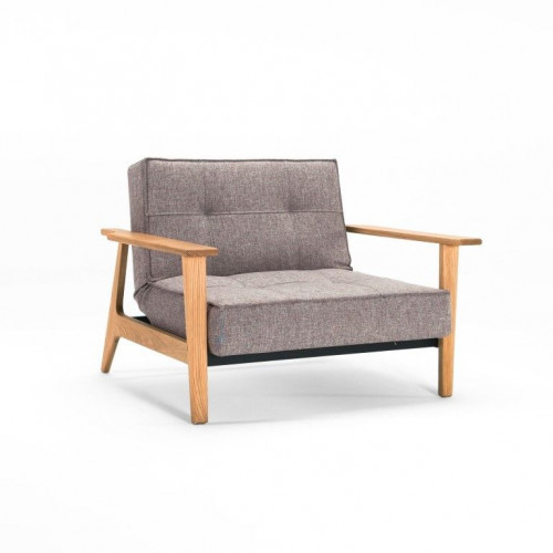 Splitback Chair with Armrest   Mixed Dance Grey