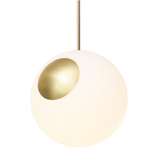 Hängelampe Bright Spot | Messing, Gold, Crema