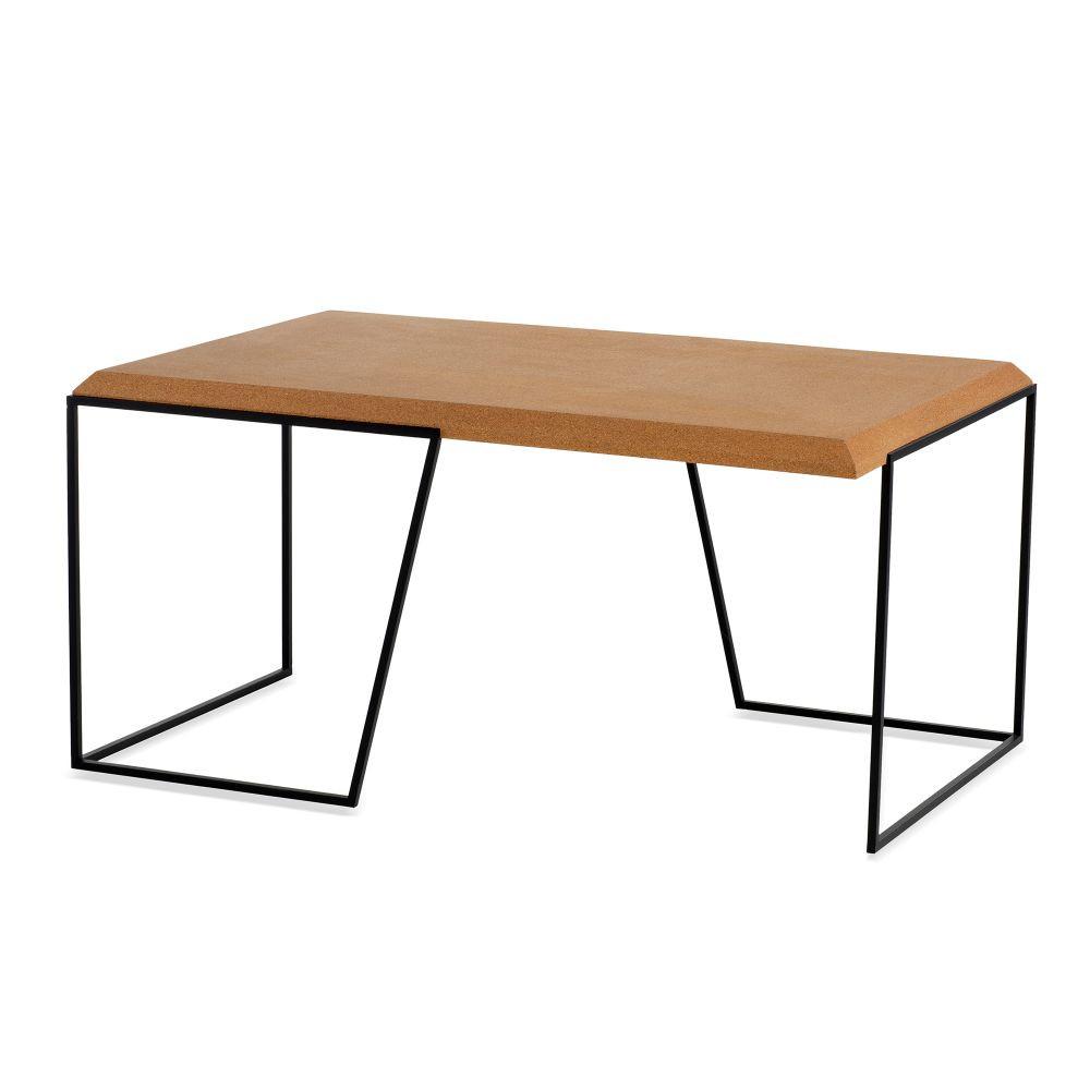 Center Table Grao | Light Cork & Black Legs