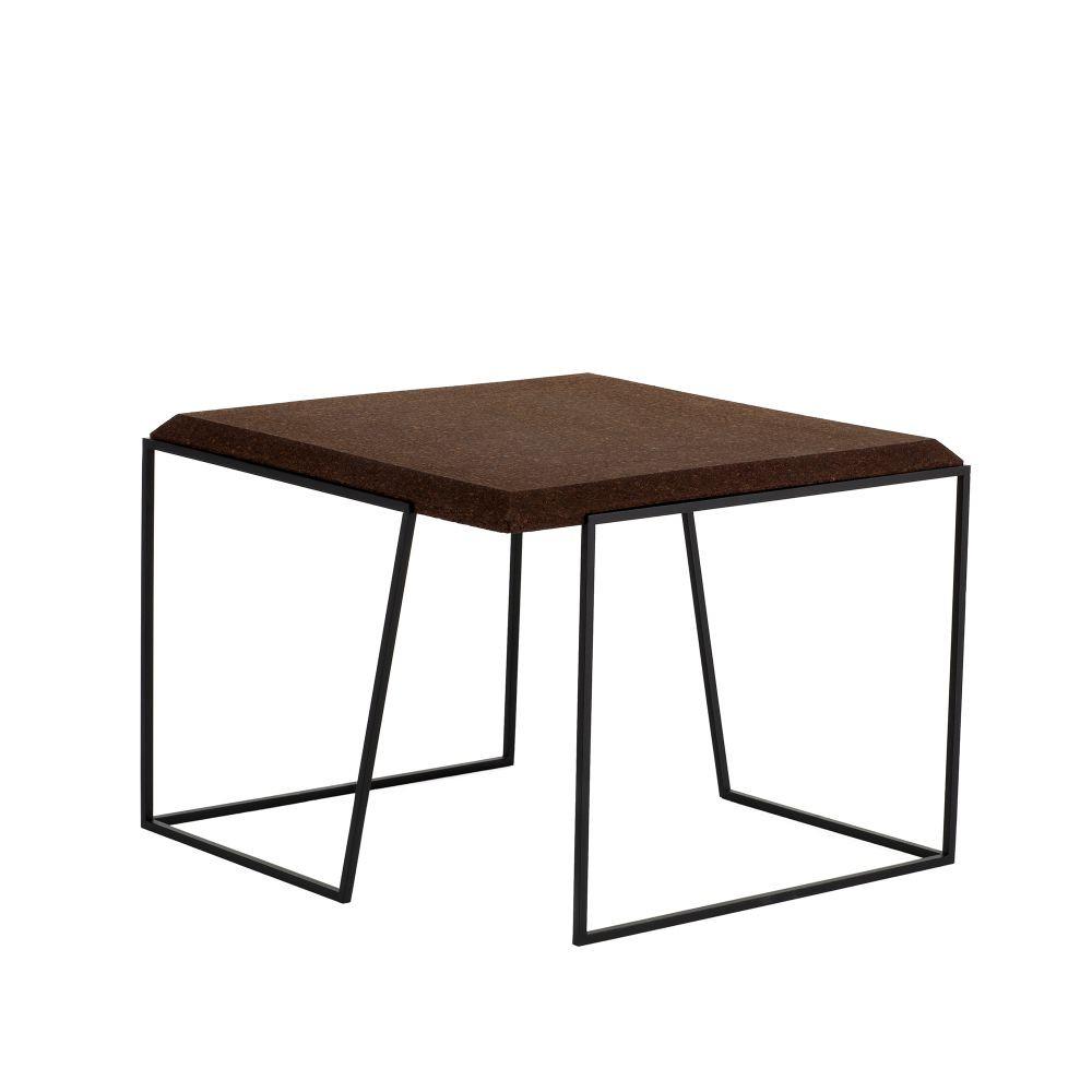 Coffee Table Grao | Dark Cork & Black Legs