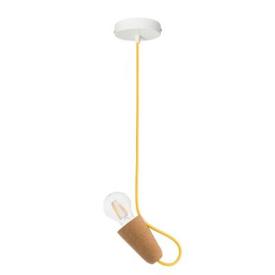 Pendant Lamp Sininho | Light Cork & Yellow Cable