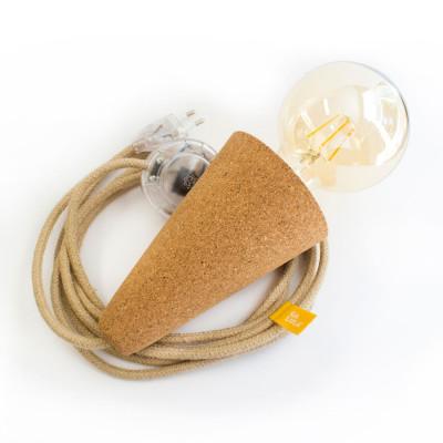 Lamp Cork Sino | Beige Cable