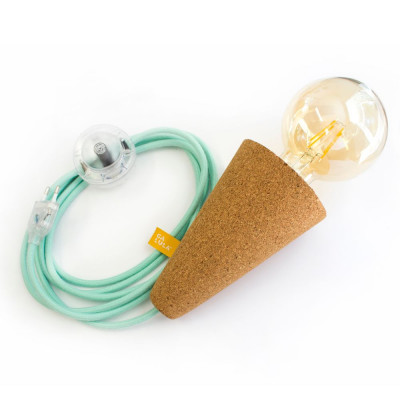 Lamp Cork Sino | Green Cable