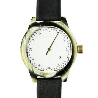 One Hand Minuteman Watch | Horn & Black