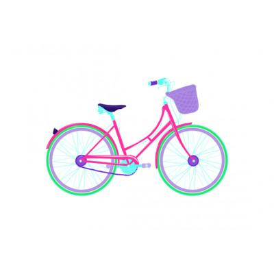 Gerahmte Leinwand | Pinkes Fahrrad