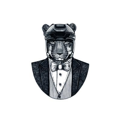 Gerahmte Leinwand | Eleganter Löwe 2