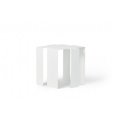 Beistelltisch Shifted Square | Weiß