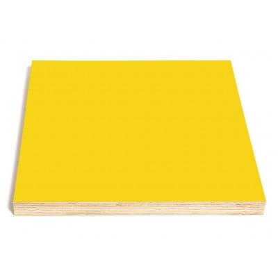 Quadratische Kreide- und Magnettafel | Gelb